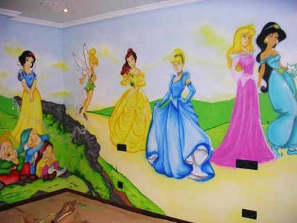 Decorado de paredes de princesas imagui - Paredes para ninas ...