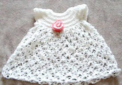 Patrones de vestidos tejidos a crochet para bebés - Imagui