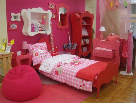 Decoraci n de hello kitty para habitaci n de ni as - Dormitorio hello kitty ...
