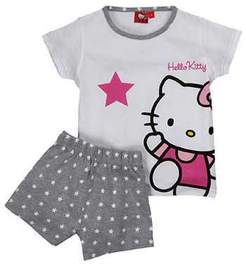 6ac4ac7e5 Para niñas más grandes tenemos este conjunto de camiseta manga larga con estampado  de Hello Kitty en color rojo y blanco. La pijama elaborada en algodón es ...
