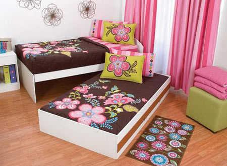 dos niñas en casa y una sola habitación, puedes optar por una cama