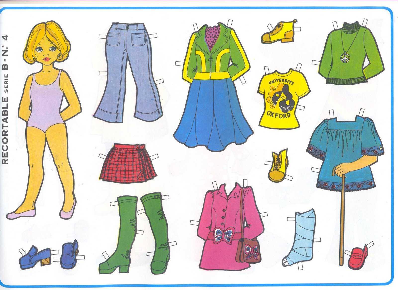 Muñecas recortables: Sana diversión para niñas | Planeta Niñas
