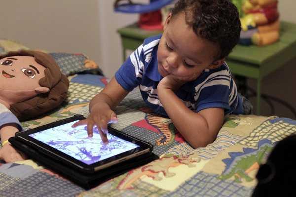 Los niños aman las tablets